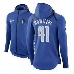Männer Dirk Nowitzki Dallas Mavericks und 41 Blau Therma Flex Showtime Hoodie