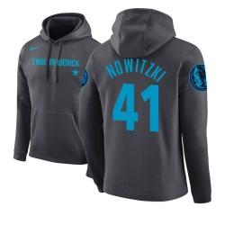 Männer Dirk Nowitzki Dallas Mavericks und 41 Grey 2018 Stadt Ausgabe Hoodie
