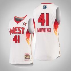 Herren Mitchell & Ness Dirk Nowitzki Mavericks & 41 2009 NBA All-Star White Swingman Jersey