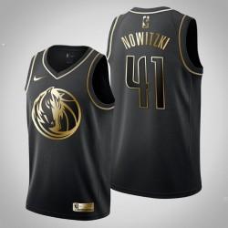 Dallas Mavericks Dirk Nowitzki & 41 Schwarz Jersey - Golden Edition