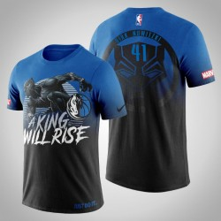 Dallas Mavericks Dirk Nowitzki & 41 Königs Marvel Wakanda für immer T-Shirt - Männer