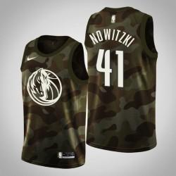 Männer Dallas Mavericks Dirk Nowitzki & 41 Camo Jersey - 2019 Memorial Day