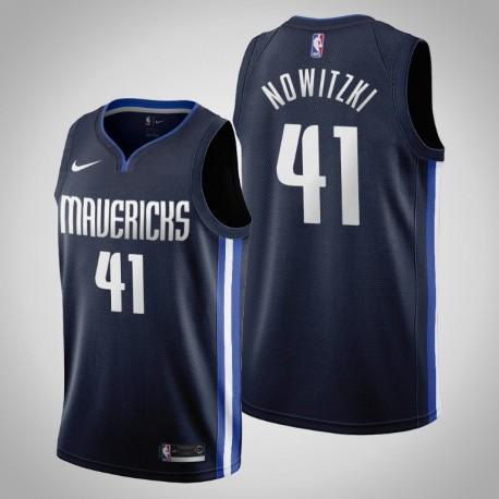2019-20 Mavericks Dirk Nowitzki & 41 Navy Jersey - Erklärung