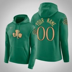 Boston Celtics Personalisieren City Kelly Grün 2020 Saison Pullover Hoodie