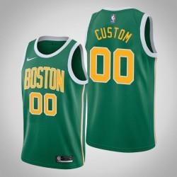 Männer NBA Personalisieren Boston Celtics verdiente Edition Grün Swingman Trikot