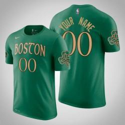 Boston Celtics Personalisieren City Kelly Grün Saison Namen & Nummer T-Shirt