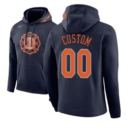 Männer Personalisieren New York Knicks Navy City Edition Hoodie
