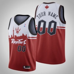Toronto Raptors Personalisieren rot weiß Hometown Collection Swingman Trikot