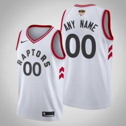 Herren Toronto Raptors Personalisieren Weiß NBA Finals Association Trikot