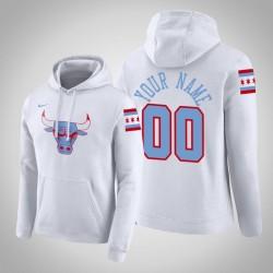 Chicago Bulls Personalisieren City Weiß 2020 Saison Pullover Hoodie