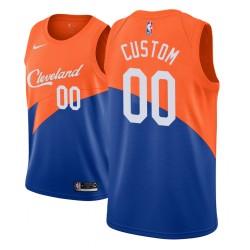 Herren NBA Personalisieren Cleveland Cavaliers City Edition Blau Trikot