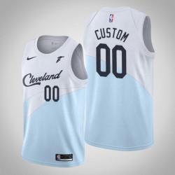 Männer NBA Personalisieren Cleveland Cavaliers verdiente Edition Blau Swingman Trikot
