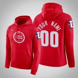 Detroit Pistons Personalisieren City Rot 2020 Saison Pullover Hoodie