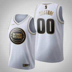 Detroit Pistons Personalisieren Golden Edition Weißes Trikot