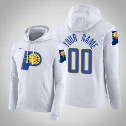 Indiana Pacers Personalisieren City Weiß 2020 Saison Pullover Hoodie
