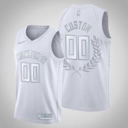 Milwaukee Bucks Personalisieren Platinum Limited Pracht Im Ruhestand weißes Trikot