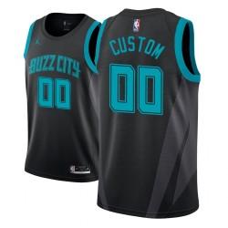 Herren NBA Personalisieren Charlotte Hornets City Edition Schwarz Trikot