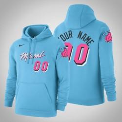 Miami Heat Personalisieren City Blau 2020 Saison Pullover Hoodie