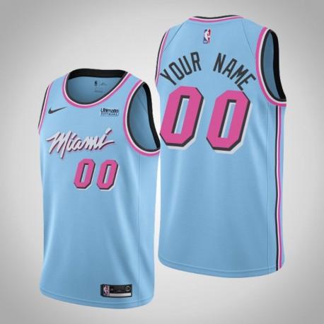 Herren Miami Heat Personalisieren Blau Vice Night Trikot - Stadt