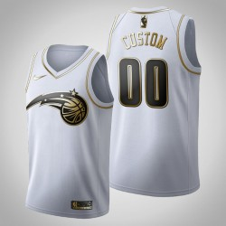 Orlando Magic Personalisieren Golden Edition Weißes Trikot