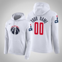 Washington Wizards Personalisieren City Weiß 2020 Saison Pullover Hoodie