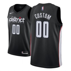 Männer NBA Personalisieren Washington Wizards City Edition Schwarz Trikot