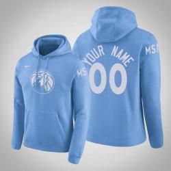 Minnesota Timberwolves Personalisieren City Blau 2020 Saison Pullover Hoodie