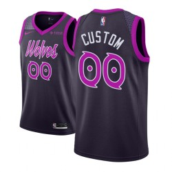 NBA Personalisieren Minnesota Timberwolves City Edition Lila Trikot