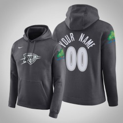Oklahoma City Thunder Personalisieren City Anthrazit 2020 Saison Pullover Hoodie