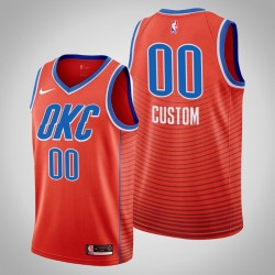 Herren Oklahoma City Thunder Personalisieren Orange Swingman 2019-20 Trikot - Statement Edition