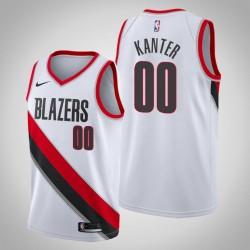 Herren NBA Enes Kanter Portland Trail Blazers Personalisieren Association Edition Weiß Trikot