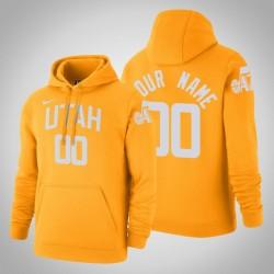 Utah Jazz Personalisieren City Gold 2020 Saison Pullover Hoodie