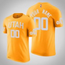Utah Jazz Personalisieren City Gold 2020 Saison Namen & Nummer T-Shirt