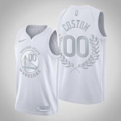 Golden State Warriors Personalisieren Platin begrenzte Ruhm im Ruhestand weißes Trikot