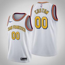 Golden State Warriors Personalisieren weiß 2020 Saison Classic San Francisco Trikot