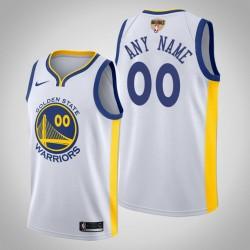Herren Golden State Warriors Personalisieren Weiß Association Trikot - 2019 NBA Finals