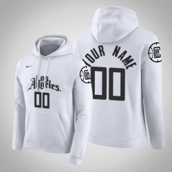 Los Angeles Clippers Personalisieren City Weiß 2020 Saison Pullover Hoodie