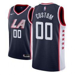 Herren NBA Personalisieren Los Angeles Clippers City Edition Navy Trikot