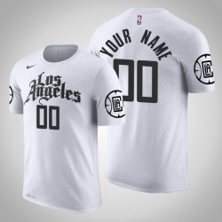 Los Angeles Clippers Personalisieren City Weiß 2020 Saison Namen # Nummer T-Shirt