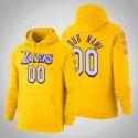 Los Angeles Lakers Personalisieren Stadt Gold 2020 Saison Pullover Hoodie