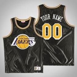 Herren Los Angeles Lakers Personalisieren Schwarz Blenden Trikot