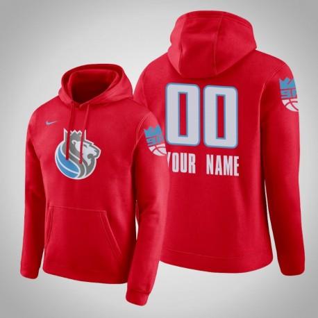 Sacramento Kings Personalisieren City Rot 2020 Saison Pullover Hoodie