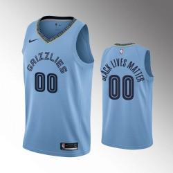 Männer Memphis Grizzlies Personalisieren Erklärung Blau Schwarz Lebt Materie Trikot
