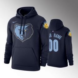 Herren Memphis Grizzlies Personalisieren Navy Pullover Hoodie - Symbol