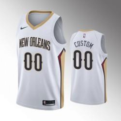 Herren New Orleans Pelicans Weiß Association Personalisieren Trikot