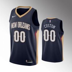 Herren New Orleans Pelicans Navy Personalisieren Trikot