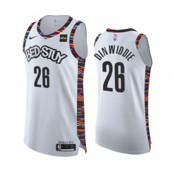 Brooklyn Nets Spencer Dinwiddie Authentic Stadt Ausgabe Trikot