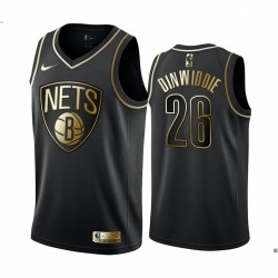 Spencer Dinwiddie & 26 Brooklyn Nets Schwarz Golden Edition Trikot