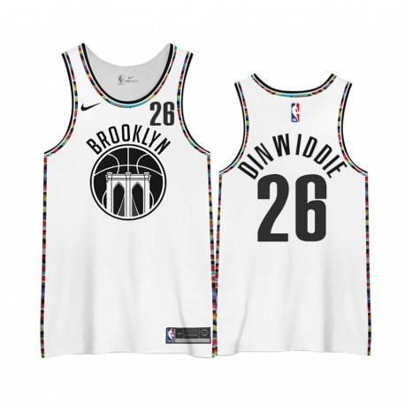 Spencer Dinwiddie Brooklyn Nets 2020-21 Stadt Edition 3.0 Trikots Shirts