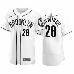 Brooklyn Nets Spencer Dinwiddie NBA X MLB Crossover Ausgabe Baseball Trikot Shirts